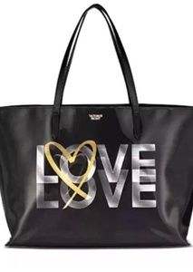 VICTORIA'S SECRET Holographic LOVE Heart Tote Bag